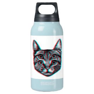 Garrafa De Água Térmica Gato 3d, 3d gato, gato preto e branco