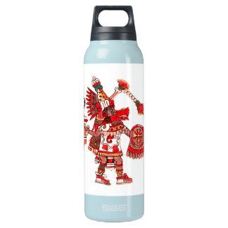 Garrafa De Água Térmica Guerreiro asteca do shaman da dança
