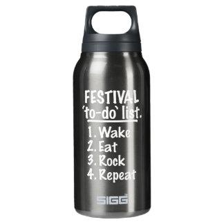 Garrafa De Água Térmica Lista do tumulto do ` do festival' (branca)