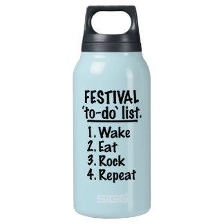 Garrafa De Água Térmica Lista do tumulto do ` do festival' (preto)