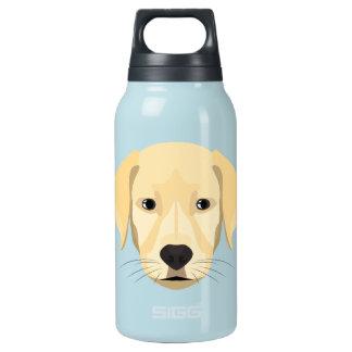 Garrafa De Água Térmica Ouro Retriver do filhote de cachorro da ilustração