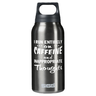 Garrafa De Água Térmica Pensamentos impróprios da cafeína do funcionamento