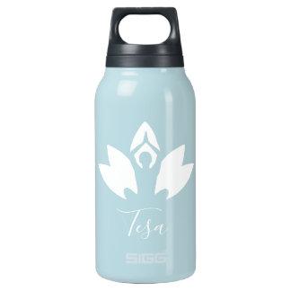 Garrafa De Água Térmica Personalizado, ioga, Lotus, silhueta, convicção