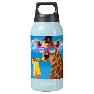 Garrafa De Água Térmica Praia do girafa - girafa engraçado