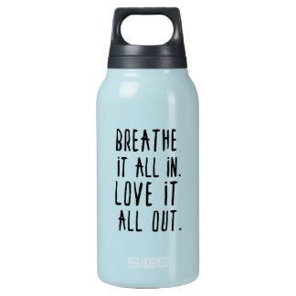 Garrafa De Água Térmica Respire-o dentro & ame-o para fora Tumbler
