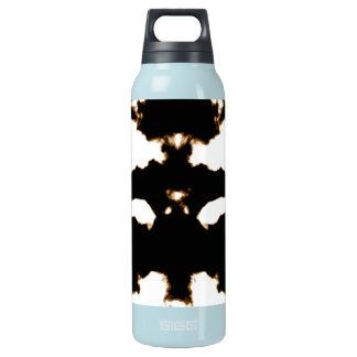 Garrafa De Água Térmica Teste de Rorschach de um cartão da mancha da tinta