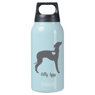 Garrafa De Água Térmica Tumbler do cão do galgo italiano, salvamento parvo