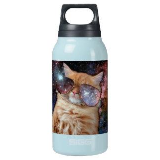 Garrafa De Água Térmica Vidros do gato - gato dos óculos de sol - espaço
