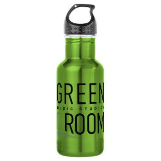 Garrafa de água verde da sala