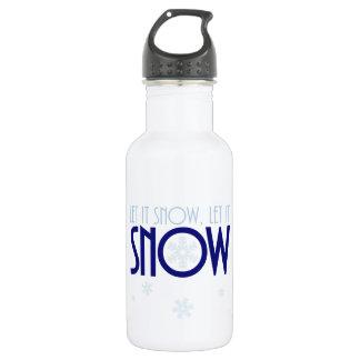 Garrafa Deixais lhe para nevar floco de neve do inverno