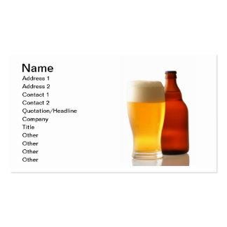 Garrafa do cartão de visita da cerveja