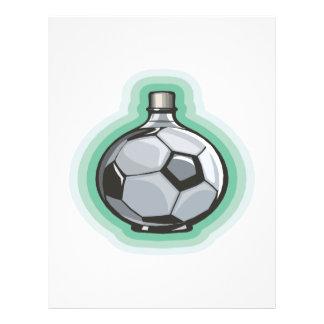 Garrafa do futebol modelo de panfletos