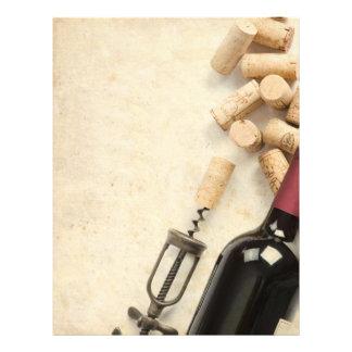 Garrafa do vinho modelo de panfleto