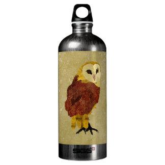 Garrafa dourada da liberdade da coruja do rubi