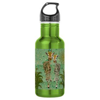 Garrafa dourada da liberdade do jade dos girafas