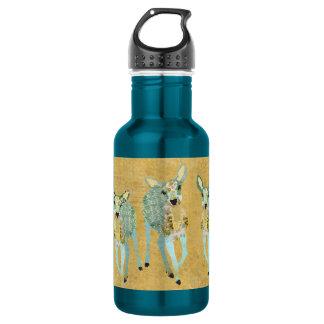 Garrafa dourada da liberdade dos cervos do vintage