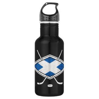 Garrafa escocesa da bandeira do hóquei em gelo