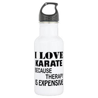Garrafa Eu amo o karaté porque a terapia é cara