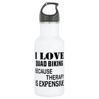 Garrafa Eu amo o quadrilátero que Biking porque a terapia