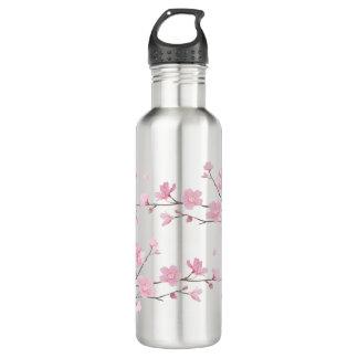 Garrafa Flor de cerejeira - fundo transparente