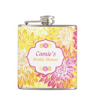 Garrafa floral brilhante do chá de panela cantil