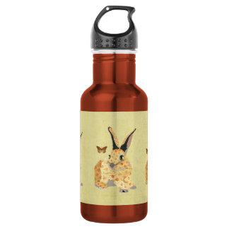 Garrafa floral gasto da liberdade do coelho