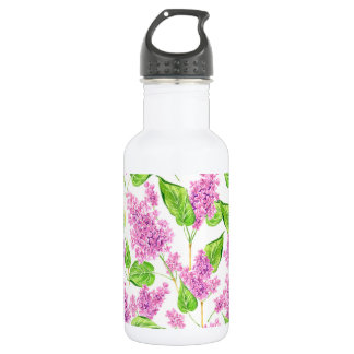 Garrafa Flores cor-de-rosa do lilac da aguarela