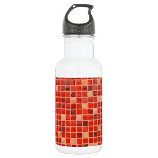 Garrafa Fundo vermelho do azulejo de mosaico