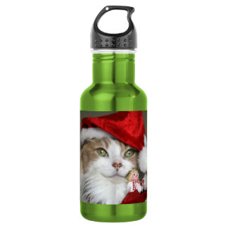 Garrafa Gato do papai noel - gato do Natal - gatinhos
