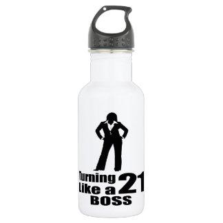 Garrafa Girando 21 como um chefe