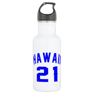 Garrafa Havaí 21 designs do aniversário