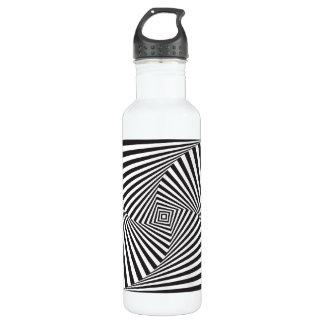 Garrafa Ilusão óptica espiral branca preta bonita