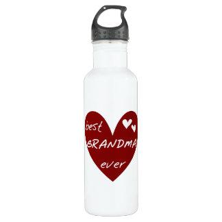 Garrafa Liberdade da avó do coração vermelho a melhor