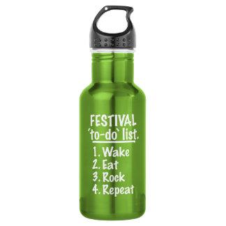 Garrafa Lista do tumulto do ` do festival' (branca)