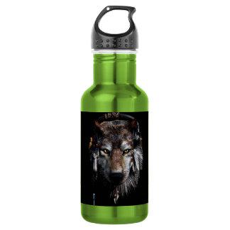 Garrafa Lobo indiano - lobo cinzento
