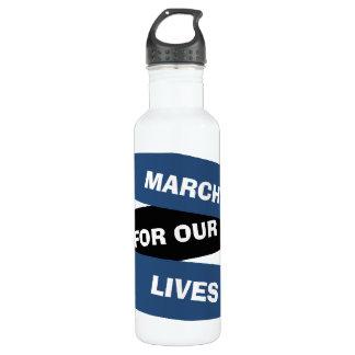 Garrafa Março para nossa água da reforma da arma do