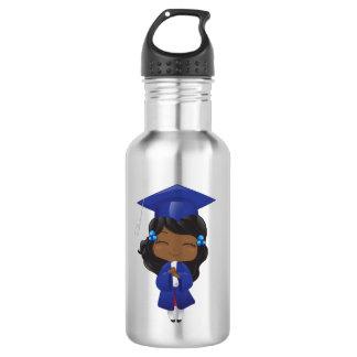 Garrafa Menina da graduação no azul