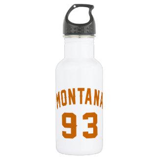 Garrafa Montana 93 designs do aniversário