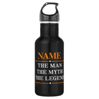 Garrafa Nome personalizado o homem o mito a legenda