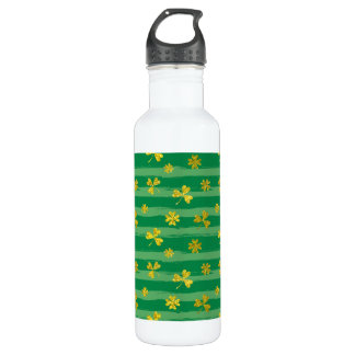 Garrafa O verde dourado do trevo de St Patrick listra o