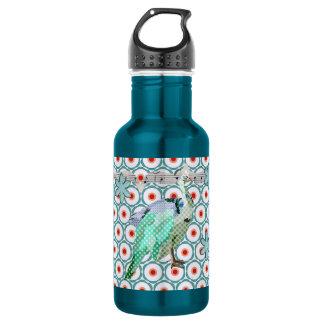 Garrafa pintada da liberdade de turquesa do pavão