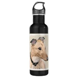 Garrafa Pintura do galgo - arte original bonito do cão