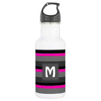 Garrafa preto cor-de-rosa de néon brilhante na moda e