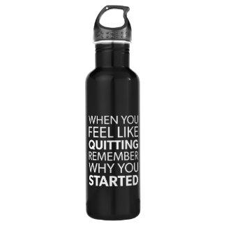 Garrafa Recorde porque você começou - o exercício