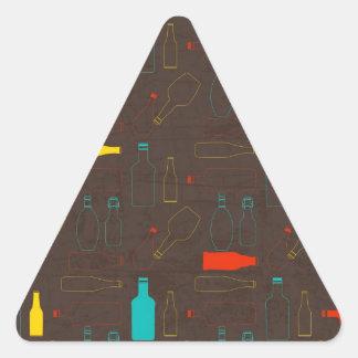 garrafa retro marrom pattern.jpg adesivos triângulo
