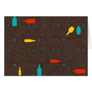 garrafa retro marrom pattern jpg cartoes