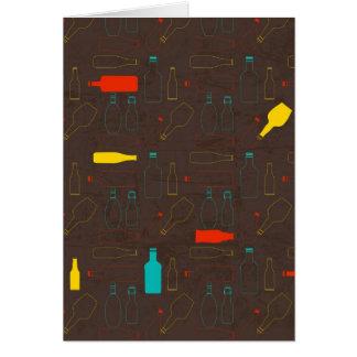 garrafa retro marrom pattern.jpg cartão