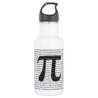 Garrafa Símbolo matemático do dia preto original do pi do