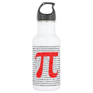 Garrafa Símbolo matemático do dia vermelho original do pi