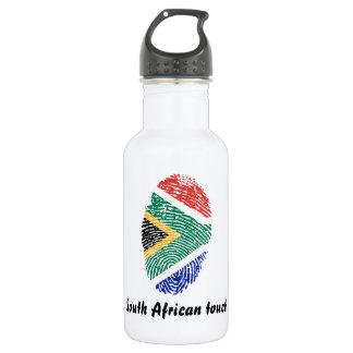 Garrafa Sul - bandeira africana da impressão digital do
